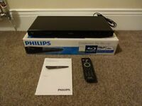 PHILIPS BD2700 BLU RAY PLAYER BOXED