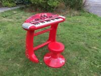 Kids piano and stool set