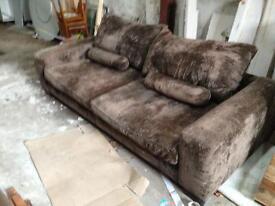 Sofa matching chair pouffee