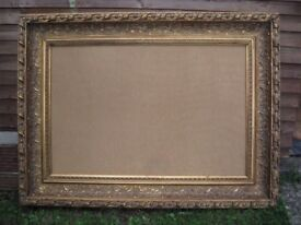 Large Vintage Baroque Style Ornate Gilt Picture/Mirror Frame 118cm x 88cm