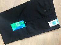 """M&S Black Boy's School Trousers. New with labels. Age 15 years. Inside leg 31"""". Wool blend."""