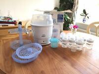 Avent electric sterilisers with extras