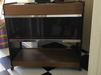 Hostess Trolley complete with 4 serving dishes heated area under including plate rack