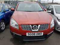 NISSAN QASHQAI 2008, 112,000 MILES 2.0 DIESEL HATCHBACK ORANGE