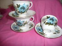 Vintage Cups, Saucers Ideal For Weddings,Afternoon Teas, Vintage Parties Etc