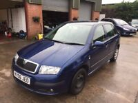 SKODA 1.4 TDI PD AMBIENTE 06 REG 5 DR 06 REG IN BLUE WITH BLACK TRIM, SERVICE HISTORY AND MOT MARCH