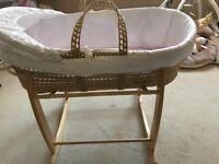Claire de Lune Moses Basket for sale