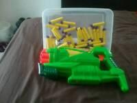 Foam 10 shot nerf like pump gun fires better then nerf