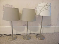 Floor Lamp and Table Lamps