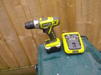 Used Ryobi cordless drill, variable speed
