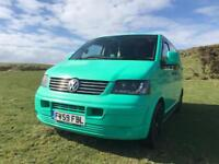 VW Transporter T5 SWB Kombi Camper 6 seats Rock n Roll Bed