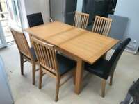 Wood Dining Table x 6 Chairs