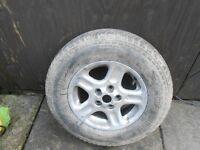 land rover freelander 1 alloy & tyre 195- 15