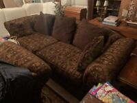 Handmade Sofa Set - 4 Seater, 3 Seater , 2 Seater and a large footstool