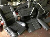 2005 BMW 5 SERIES 2.5 TDI AUTO 525d SPORT, BLACK LEATHER INTERIOR SEATS COMPLETE SET