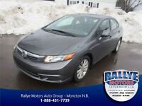 2012 Honda Civic EX, Fully Equipped, Warranty, Sunroof