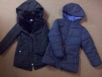 Two Winter Jackets - VGC - 5-6 years girl
