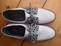 Rogue nougat brogue shoes as size 6 or 7