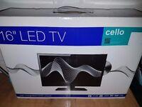 """Led tv cello 16"""" brand new"""