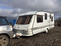 Elddis cyclone GTX 1998 5 berth Hot and cold running water cassette toilet shower oven hobs and gri