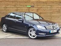 Mercedes-Benz C Class C250 CDI BlueEFFICIENCY Sport 4dr Auto SAT NAV (capri blue metallic) 2011