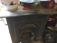 Victorian iron fire place