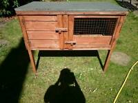 Rabbit hutch and run and net for sale