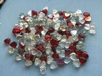 Crafting clear and red glass hearts