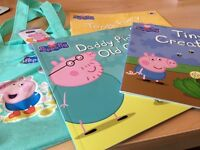 set of 3 peppa pig books