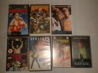 7 VHS TAPES SPORTS BOXING PENITENTIARY TYSON ROCKY YOUNGBLOOD BASEBALL NATURAL