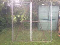 Galvanised door and frame, industrial, pets, hunt, outside