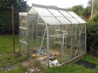 Greenhouse - Aluminium frame. Glass has already been removed but is available. Buyer to dismantle