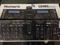 Numark CD Mix Bluetooth Dual CD/MP3 Player with Wireless Capability ( NEW )