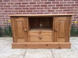 Pine TV cabinet perfect for up-cycling