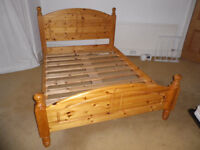 Double Bed. Pine