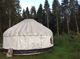 Beautiful 16ft Bent wood yurt for sale