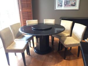 Granite Table with Chairs