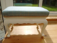 Footstool with Laura Ashley Balmoral Check Upholstery.