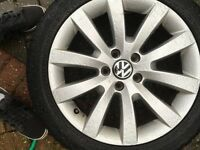 17 INCH VW scricco, Passat, golf alloys 17235/45