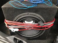 Jbl gto 1200w subwoofer with amp and wiring kit