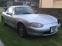 Mazda MX5 Roadster. Collectable Jap import, accident bodywork damage, can be repaired or for spares.
