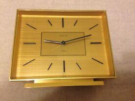 swiss 8 day brass looping alarm clock + whitehall mahogany quarts mantle clock make me offer
