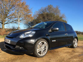 RenaultSport Clio 200 - 2.0 VVT 2009 Black with Anthracite Pack. FSH. 1 owner from new.