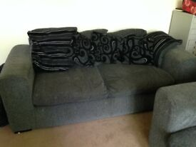 sofa, couch, dark grey