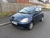 Toyota Yaris CDX, 2002 reg. 1.0L Petrol, 5 door model. Trip computer, AC & CD player. Lady owner VGC
