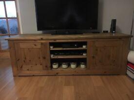 Solid Victorian pine tv unit