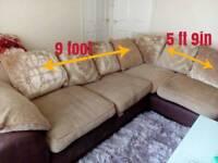 Corner sofa & poufee