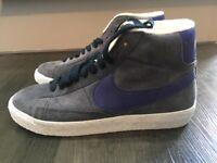 Brand New Nike Blazer Mid Suede Vintage, Women's Hi-Top Trainers Blueberry Colour Size 5.5 U.K.
