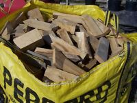Solid Oak Off Cuts for Woodburners or fires (Large Builders Bag)