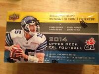 2014-15 upper Deck cfl football booster box (8 packs)